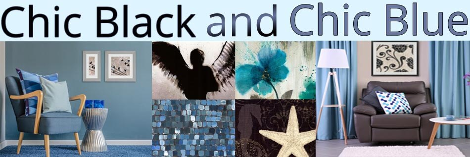 Chic Black and Chic Blue Artwork