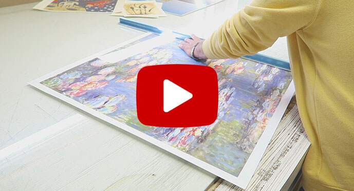 custom canvas art process video