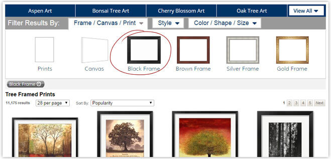 Framed Art Options