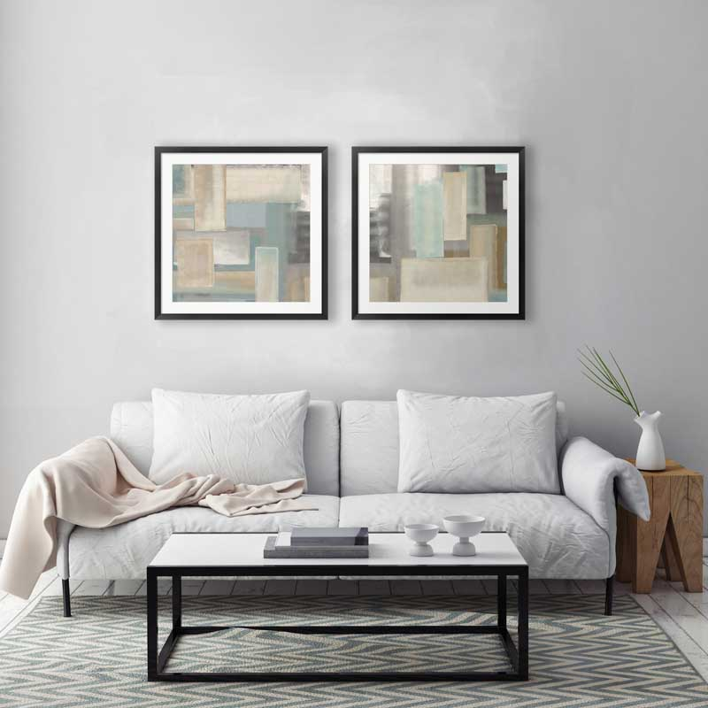 Fresh Neutral art in a living room