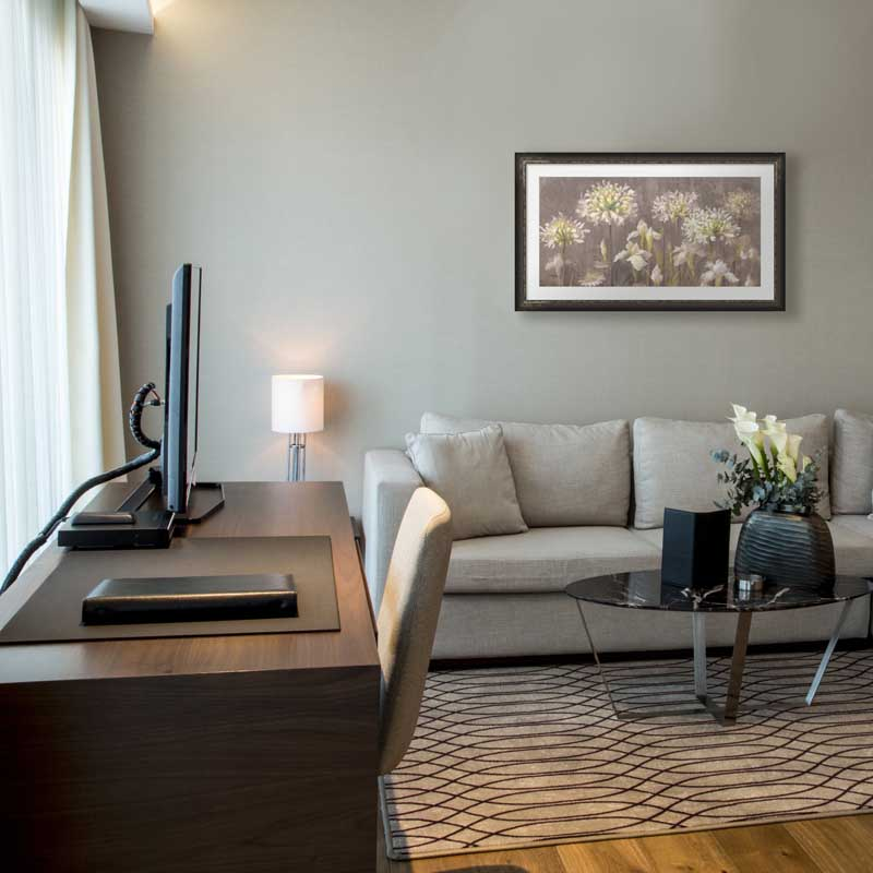 Fresh Neutral colors in a living room