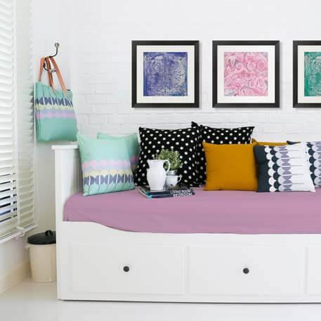 fun colored bedroom art