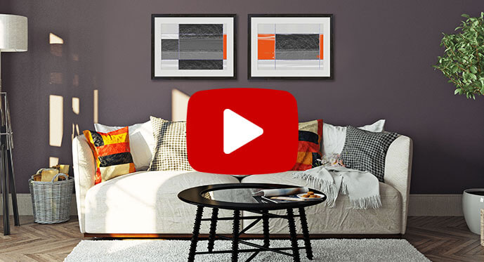 geometric lines and designs art print video
