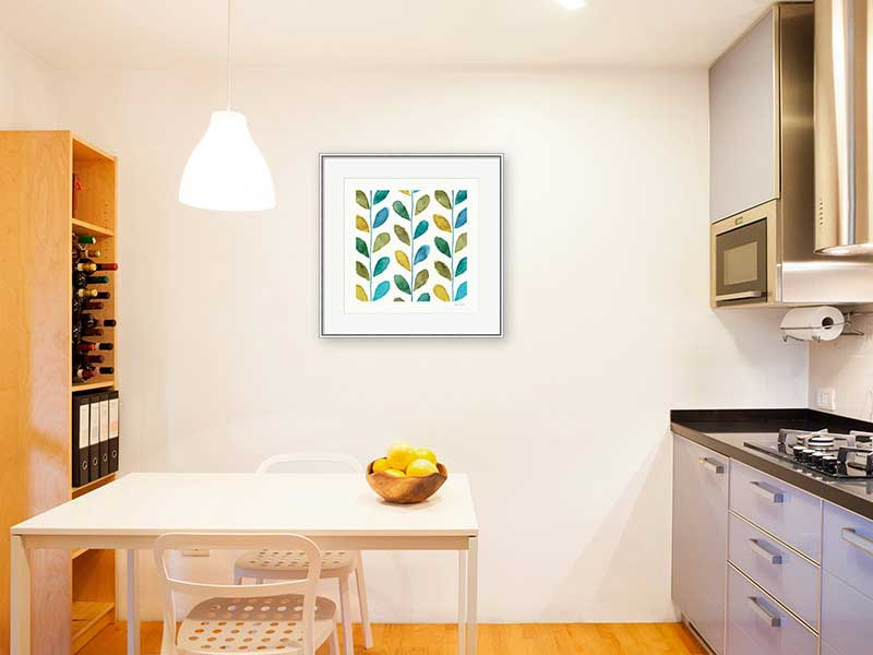 Colorful High Contrast Pattern Art in the Kitchen