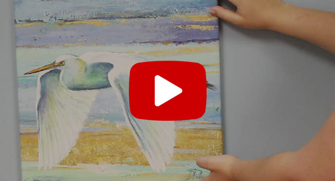 how to hang canvas art video