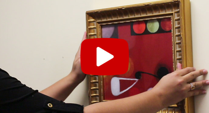how to hang framed art video