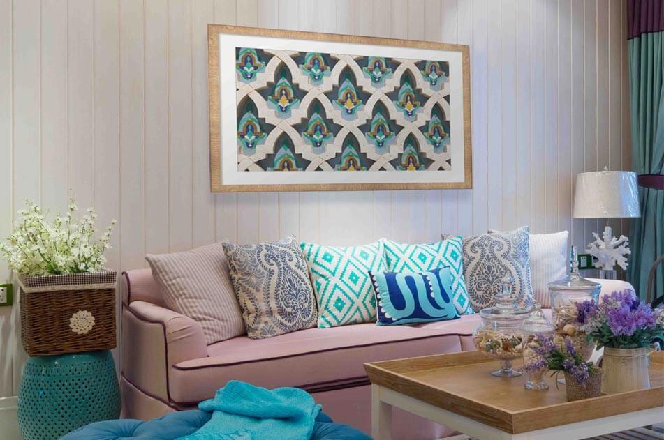 Framed Bohemian Living Room Art