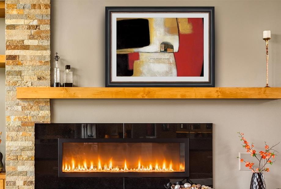 Mantel Art in a Living Room