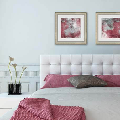 Marsala Bedroom Art