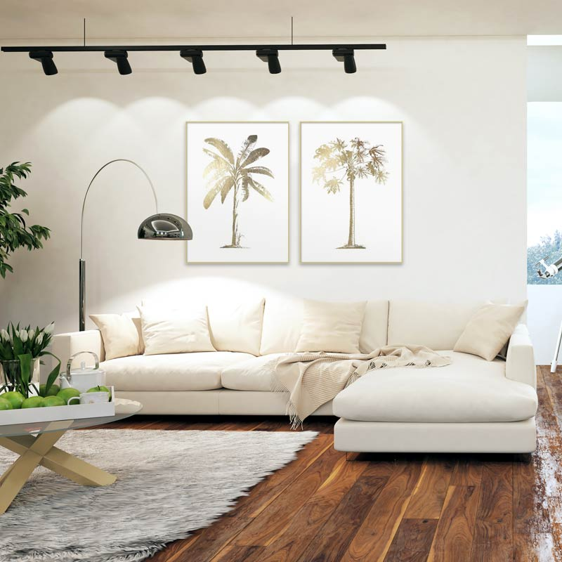 Mod Tropical living room