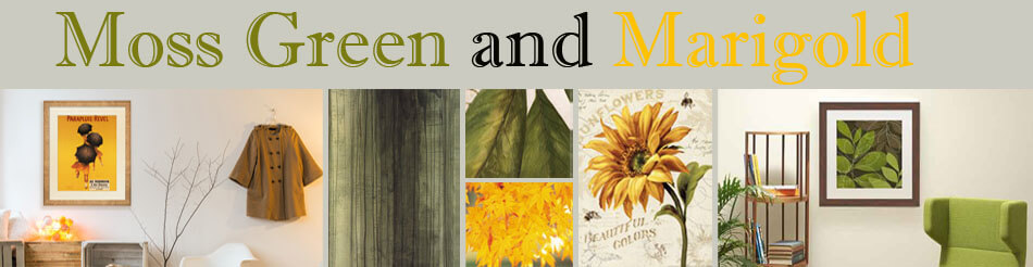 Moss Green and Marigold Artwork