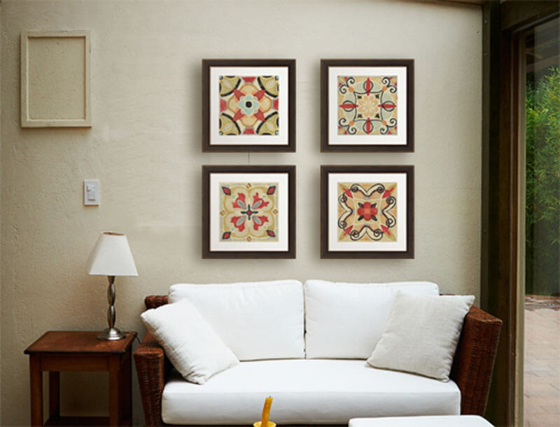 Bohemian Living Room Art Series