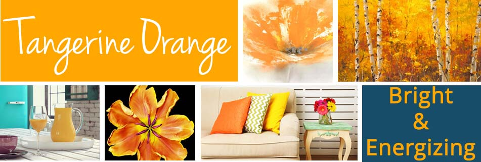 Tangerine Orange Art