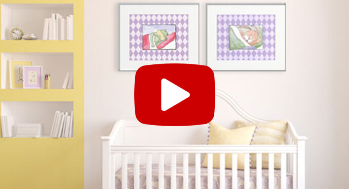 decorating with nursery posters video