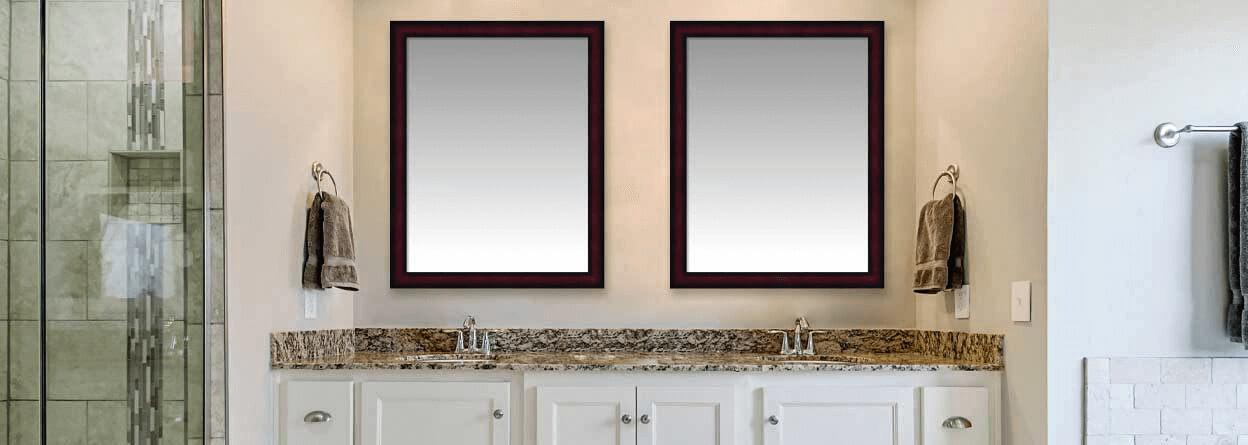 Custom Framed Mirrors Bathroom, Framed Wall Mirrors For Bathrooms