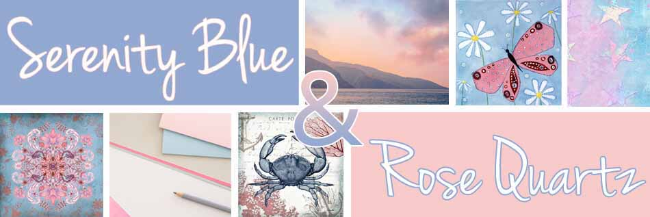Serenity Blue & Rose Quartz Decor Ideas