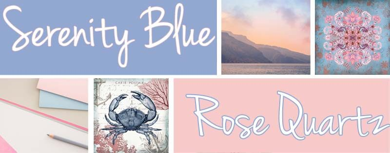 Serenity Blue & Rose Quartz Art