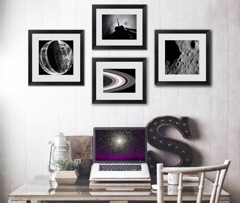 framed stellar space photography