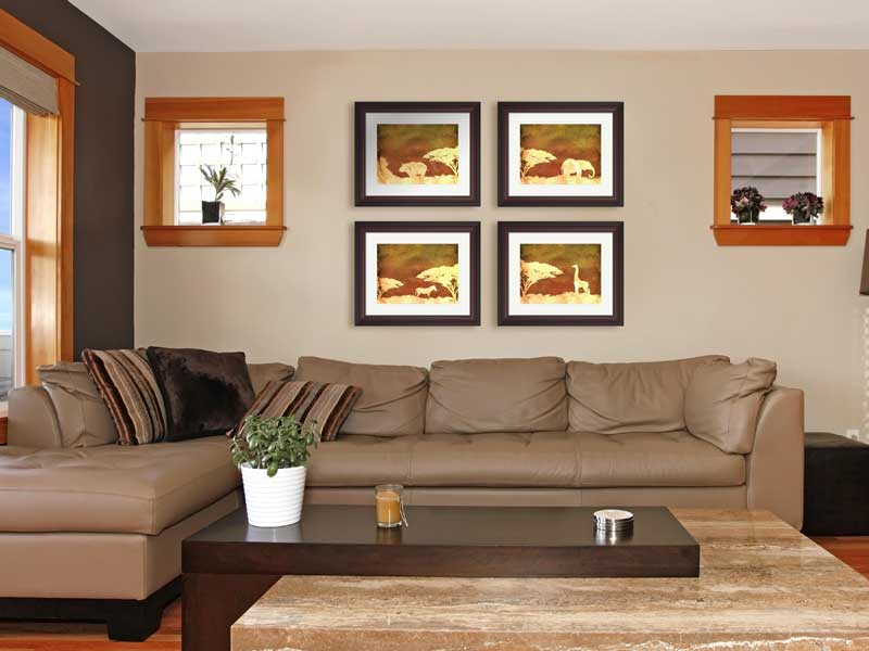 African Savanna Living Room