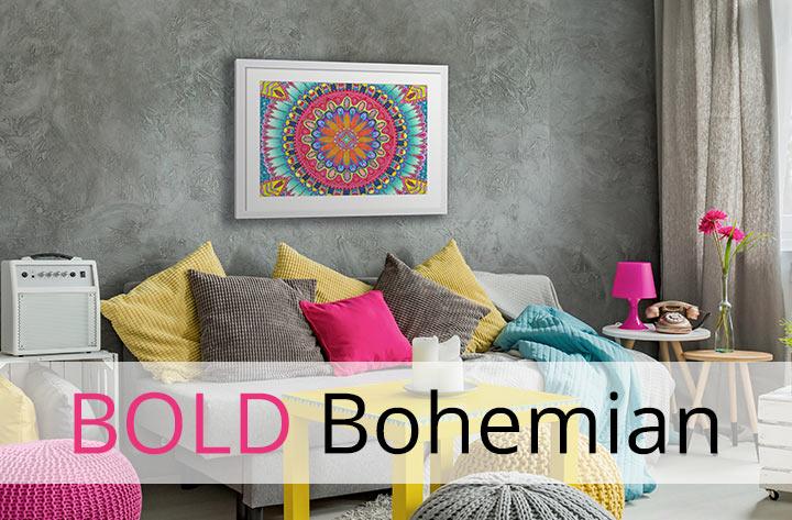 bold bohemian decor