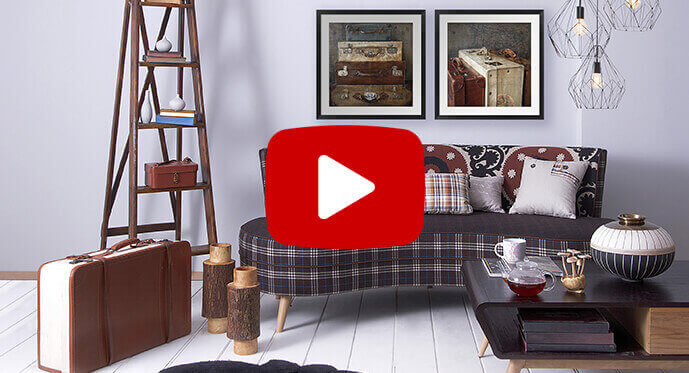 decorating with vintage mod art prints video