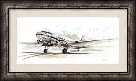 Framed DC3 Airplane