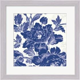 Framed Toile Roses VI