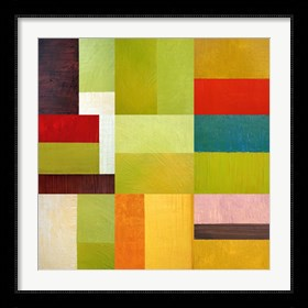 Framed Color Study Abstract 1