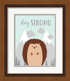 Framed Stay Strong Hedgehog
