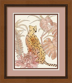 Framed Blush Cheetah III