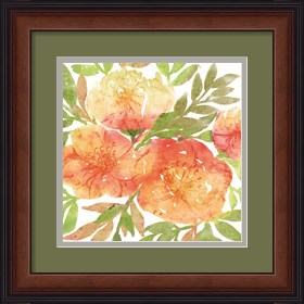 Framed Peachy Floral III