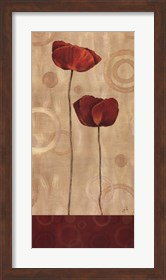 Framed Pop Art Poppies I
