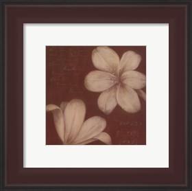 Framed Tan Flowers I