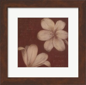 Framed Tan Flowers I