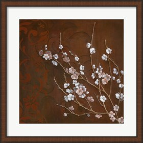 Framed Cherry Blossoms on Cinnabar I