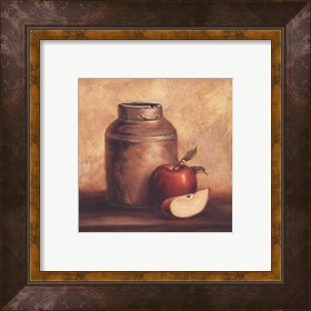 Framed Crock With Apples