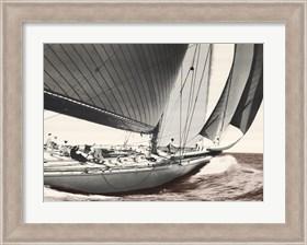 Framed Mariner's Museum - Ranger 1937 Vintage Maritime