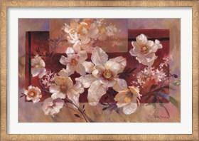 Framed Floral sur la Rouge