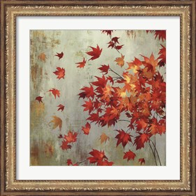 Framed Crimson Foliage