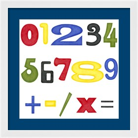 Framed Kid's Room Numbers