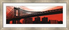 Framed Manhattan Bridge Aura