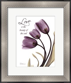 Framed Blackberry Tulips, Love