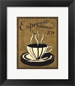 Framed Retro Coffee II