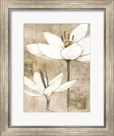 Framed Pencil Floral I