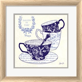 Framed Blue Cups IV