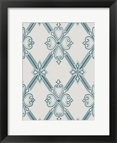 Framed Ornamental Pattern in Teal II