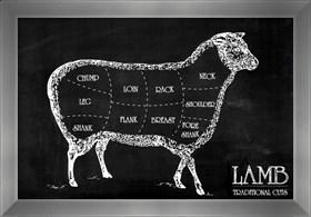 Framed Butcher's Guide I