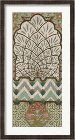 Framed Peacock Tapestry II