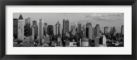 Framed Manhattan Skyline in Black and White