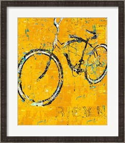 Framed Gold Bike